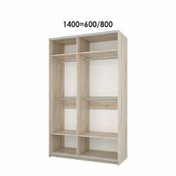 Шкаф-купе Fortune-6 1400 белый - дуб сонома