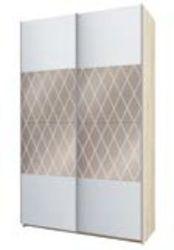 Шкаф-купе Fortune-11 1400 белый - дуб сонома