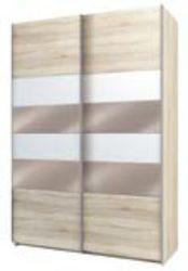 Шкаф-купе Fortune-8 1600 дуб сонома - белый