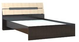 Кровать Гавана 1400 венге — дуб молочный
