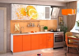 Кухня с фотопечатью Апельсин 1,6м