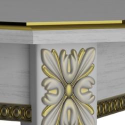 Стул Классика-7 белый - патина золото