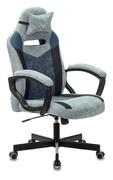Кресло игровое Zombie VIKING-6 KNIGHT Fabric серо-голубой