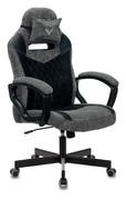 Кресло игровое Zombie VIKING 6 KNIGHT Fabric серый/черный