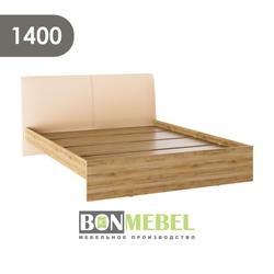 Кровать Доминика 1400 дуб крафт золотой