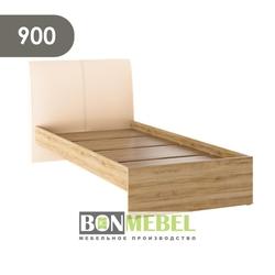 Кровать Доминика 900 дуб крафт золотой