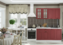 Модульная кухня серии Мария МДФ бордо