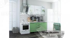 Кухня 1,5м Бьянка салатовые блестки - фотопечать