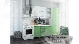 Кухня 2,1м Бьянка салатовые блестки - фотопечать