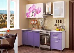 Кухонный гарнитур 1,6м фотопечать - орхидея