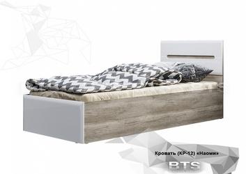 Кровать Наоми КР-12 дуб каньон - белый глянец
