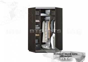 Шкаф-купе угловой Медиум ШКУ-01 венге - лоредо