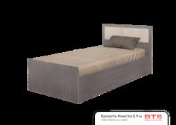 Кровать 0,9м Фиеста light ясень темный - ясень светлый