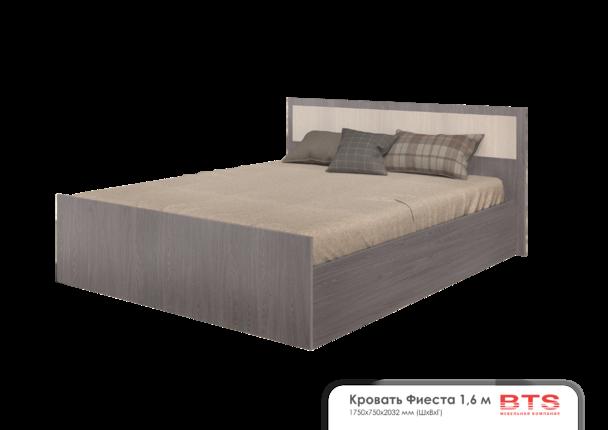 Кровать 1,6м Фиеста light ясень темный - ясень светлый