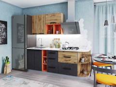 Модульная кухня серии Крафт МДФ дуб вотан - бетон темный
