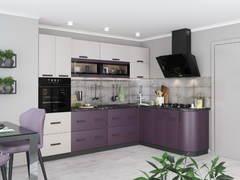 Модульная кухня серии Контемп МДФ индиго