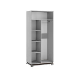 Шкаф комбинированный МШ-1 Модена ясень анкор светлый - венге