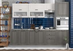 Кухня Капри МДФ липа белый - липа пепел комплект 2,7м