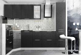 Модульная кухня серии Олива черный металлик