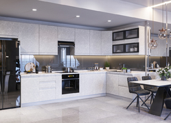 Модульная кухня угловая Скала 4,4м гранит маус