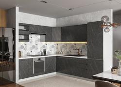Модульная кухня угловая Скала гранит оникс