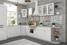 Кухня угловая Гранд МДФ белый комплект 3,35х2,05м