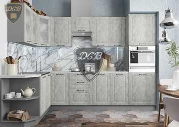 Кухня угловая Лофт МДФ бетон светлый комплект 2,9х1,7м
