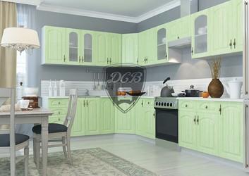 Кухня угловая Монако МДФ фисташка комплект 3,35х2,15м