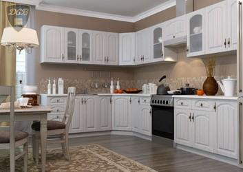 Кухня угловая Монако МДФ сандал комплект 3,35х2,15м