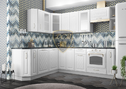 Кухня угловая Вита МДФ белый комплект 2,0х2,4м