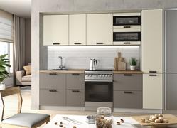 Модульная кухня Ройс 2,6м ваниль софт - грей софт