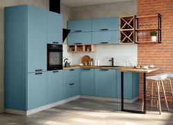Модульная кухня угловая Ройс лазурь софт