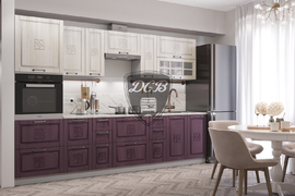 Модульная кухня Тито 3,0м перламутр - пурпур