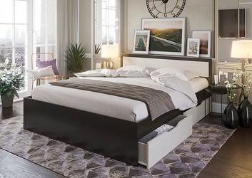 Кровать с ящиками Гармония 0,8 КР-607 венге - дуб белфорт