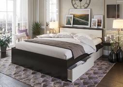Кровать с ящиками Гармония 1,4 КР-605 венге - дуб белфорт