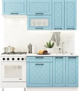 Модульная кухня Барселона 1,8 м голубой тик - белый