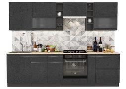 Модульная кухня Бруклин 2,8 м бетон черный