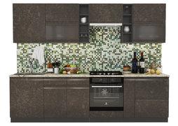 Модульная кухня Бруклин 2,8 м бетон коричневый - венге