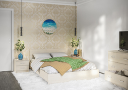 Спальный гарнитур Ронда сосна карелия комплект-2