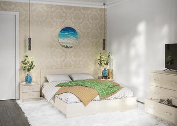 Спальный гарнитур Ронда сосна карелия композиция-2