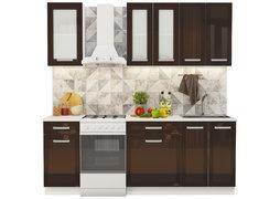 Модульная кухня Виста 2,2 м глянец горький шоколад