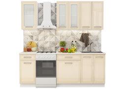 Модульная кухня Виста 2,2 м глянец ваниль - белый