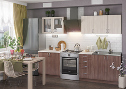 Кухня Татьяна 2,0м ясень темный - ясень светлый
