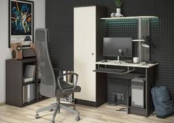 Стол компьютерный КС-001 венге - дуб беленый