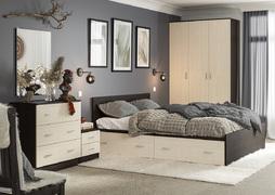 Спальный гарнитур Ронда венге - дуб беленый комплект-2