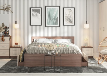 Спальный гарнитур Ронда ясень темный композиция-2