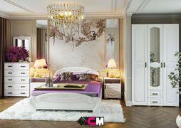 Спальный гарнитур Медина дуб анкор - дуб белый комплект-1