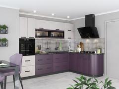 Кухня Контемп 2,0м слоновая кость - индиго
