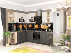 Кухня Контемп 2,0м слоновая кость - графит
