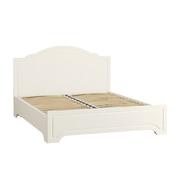Кровать 11.08 Ливерпуль белый - ясень ваниль